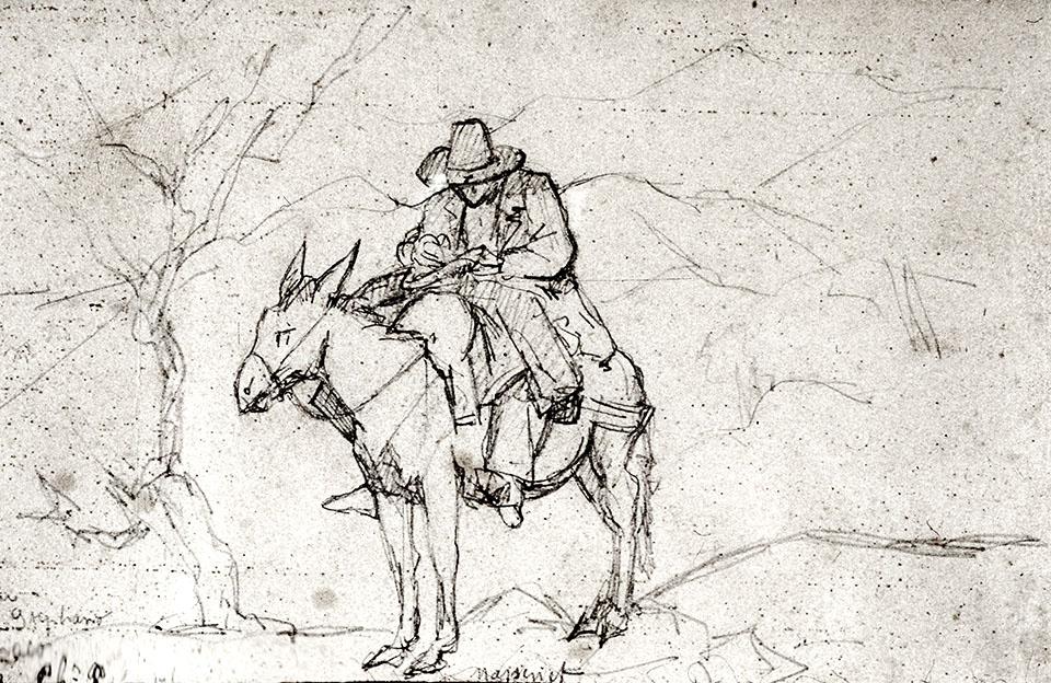 Massenet dans la campagne romaine par J. Chaplain, 1864