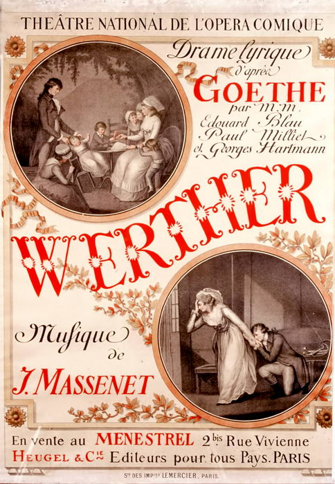 WERTHER pour la reprise à Paris (1893)