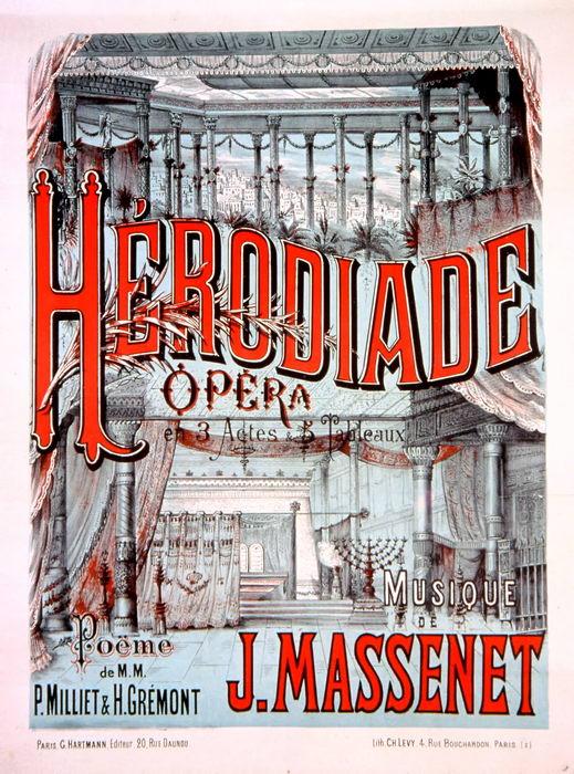 HERODIADE (reprise à Lyon (1881)