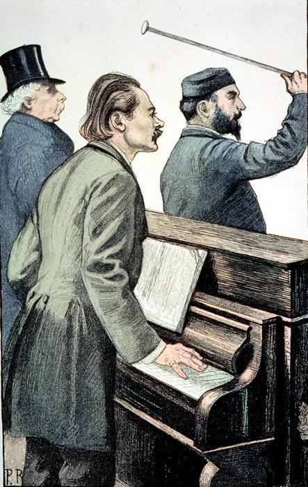 Massenet dirigeant les répétitions du Cid