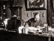 Massenet  écrivant «Le Mage» à son bureau de la rue du Gl. Foy 1889