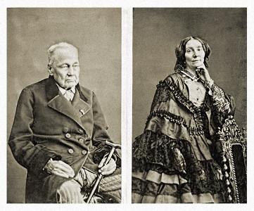 Alexis Massenet et sa seconde épouse, Adélaïde née Royer de Marancour (vers 1860)