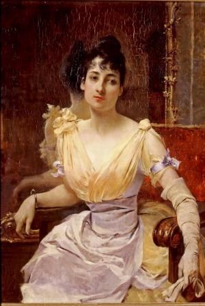 Juliette Massenet par François Flameng, l'année de son mariage (1887)